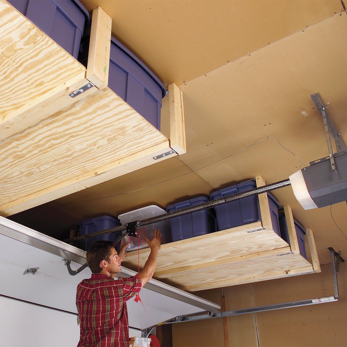 DIY ceiling storage